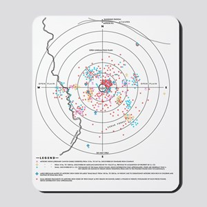 Iron distribution map, Barringer Crater Mousepad
