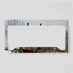 Moose Old Kenai Alaska License Plate Holder