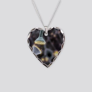 Nerve synapse, artwork Necklace Heart Charm