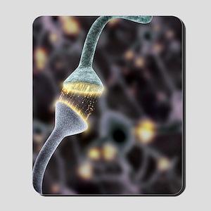 Nerve synapse, artwork Mousepad