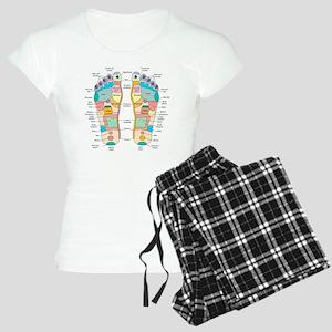 Reflexology foot map, artwo Women's Light Pajamas