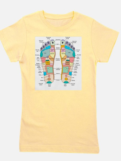 Reflexology foot map, artwork Girl's Tee