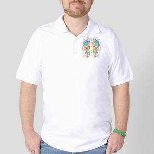 Reflexology foot map, artwork Golf Shirt