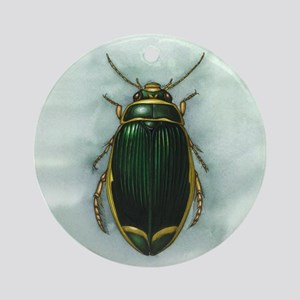Great diving beetle, artwork Round Ornament