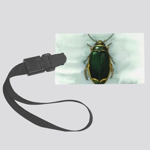 Great diving beetle, artwork Large Luggage Tag