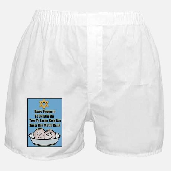 Happy Passover Matzo Boxer Shorts
