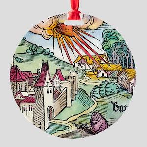 Ensisheim meteor fall, 1492 Round Ornament