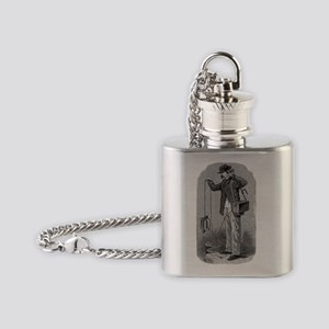 Radio experiment, historical artwor Flask Necklace