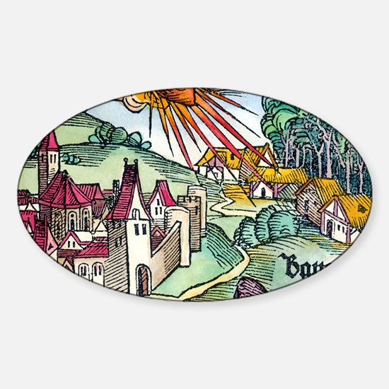 Ensisheim meteor fall, 1492 Sticker (Oval)