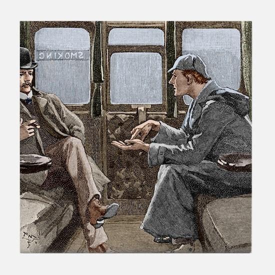 Sherlock Holmes and Dr. Watson Tile Coaster