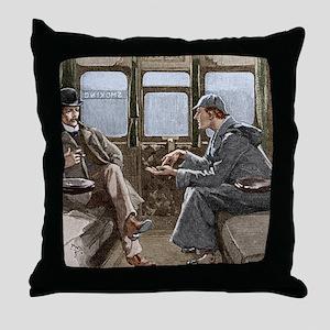 Sherlock Holmes and Dr. Watson Throw Pillow