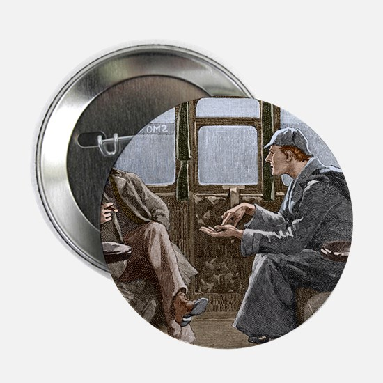 "Sherlock Holmes and Dr. Watson 2.25"" Button"