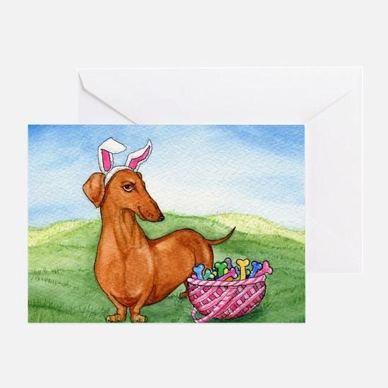 Easter Weiner Dog Greeting Card