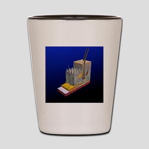 Skin cross-section, artwork Shot Glass