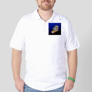 Skin cross-section, artwork Golf Shirt
