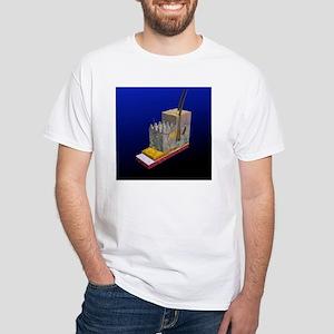 Skin cross-section, artwork White T-Shirt