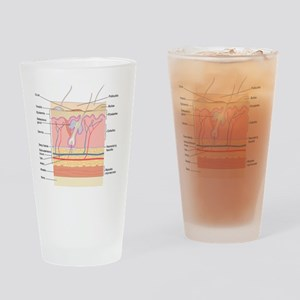 Skin disorders, artwork Drinking Glass