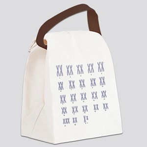 Male Down's syndrome karyotype, a Canvas Lunch Bag