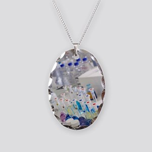 Water purity test Necklace Oval Charm