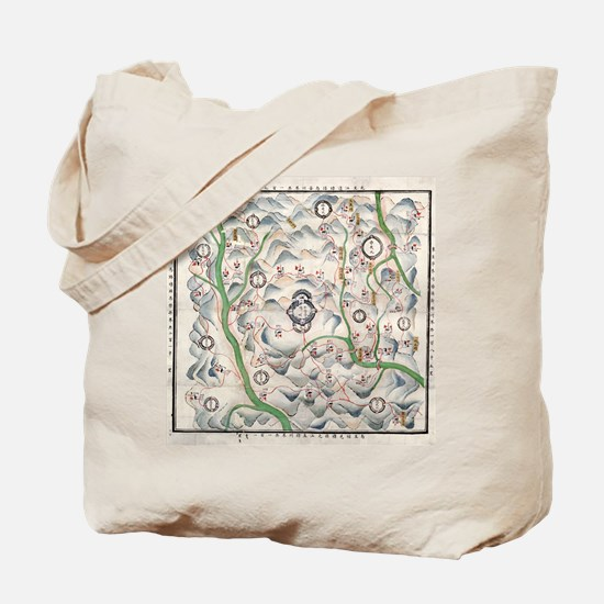 Historical Chinese map Tote Bag