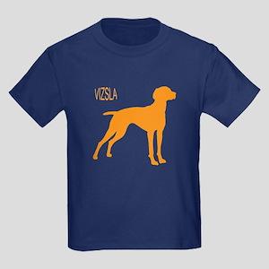 Vizsla Silhouette  Kids Dark T-Shirt
