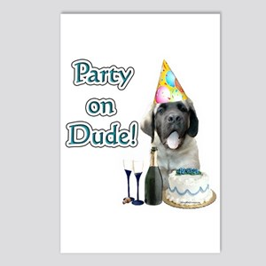 Mastiff Party Postcards (Package of 8)