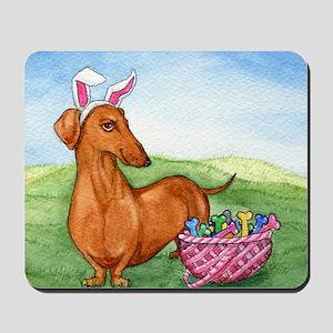 Easter Wiener Dog Mousepad