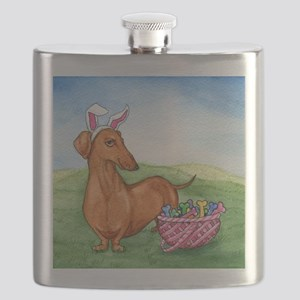 Easter Wiener Dog Flask
