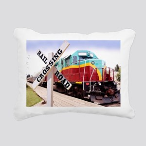 Mount Hood Railroad Rectangular Canvas Pillow