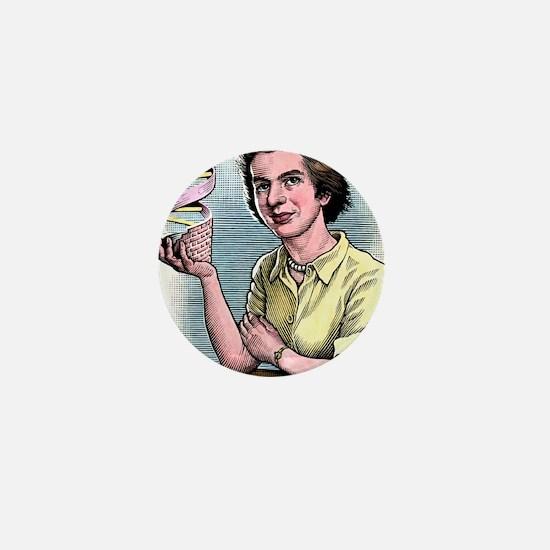 Rosalind Franklin, British chemist Mini Button
