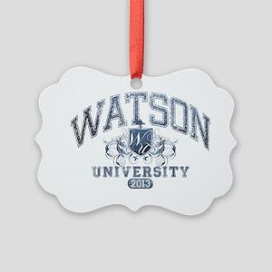 Watson last name University Class Picture Ornament