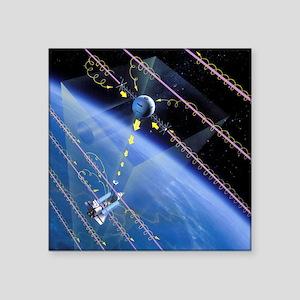 "TSS-1 tethered satellite, a Square Sticker 3"" x 3"""