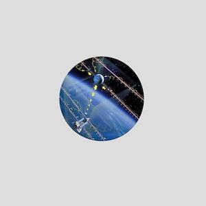 TSS-1 tethered satellite, artwork Mini Button