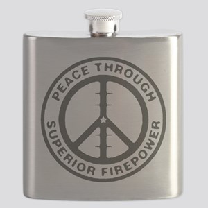 Peace through Superior Firepower Flask