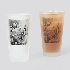 1861 Punch Dinosaurs Drinking Glass