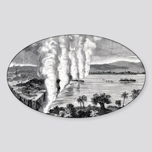 Victoria Falls, 19th century Sticker (Oval)