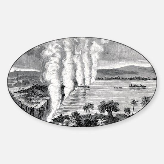 Victoria Falls, 19th century Sticker (Oval)