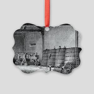 Wine production, 19th century Picture Ornament