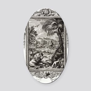 1731 Johann Scheuchzer Creation 6t Oval Car Magnet