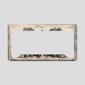 18th C engraving of Foundling License Plate Holder