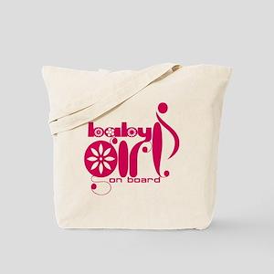 Baby Girl On Board Tote Bag