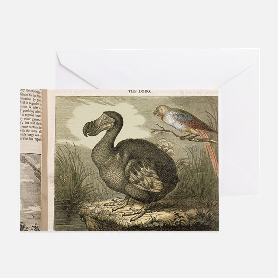 1833 Fat Dodo from the Penny Magazin Greeting Card