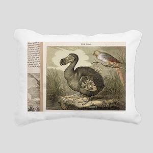 1833 Fat Dodo from the P Rectangular Canvas Pillow