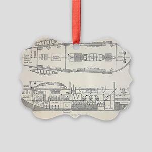 1832 Darwin's ship HMS Beagle pla Picture Ornament