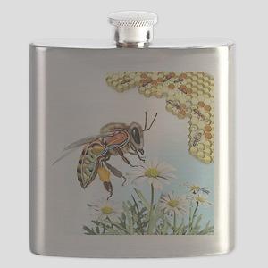 Bee anatomy, artwork Flask