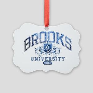 Brooks last name University Class Picture Ornament