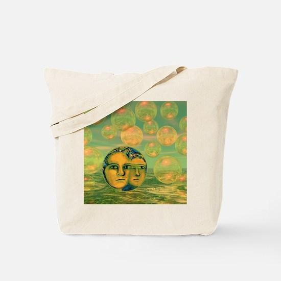 Consciousness Abstract Golden Goddess Tote Bag