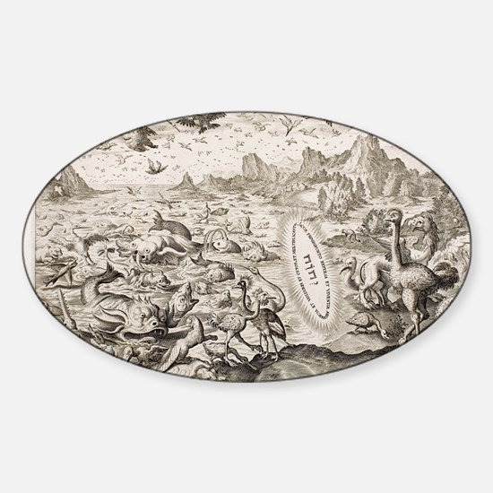1674 Animal Creation According to G Sticker (Oval)