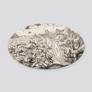 1674 Animal Creation According to  Oval Car Magnet