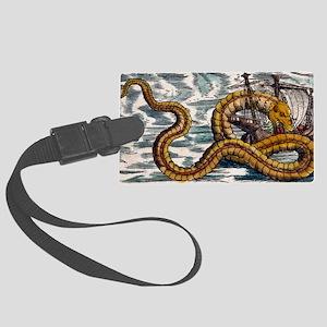 1558 Gessner Sea Serpent attacks Large Luggage Tag